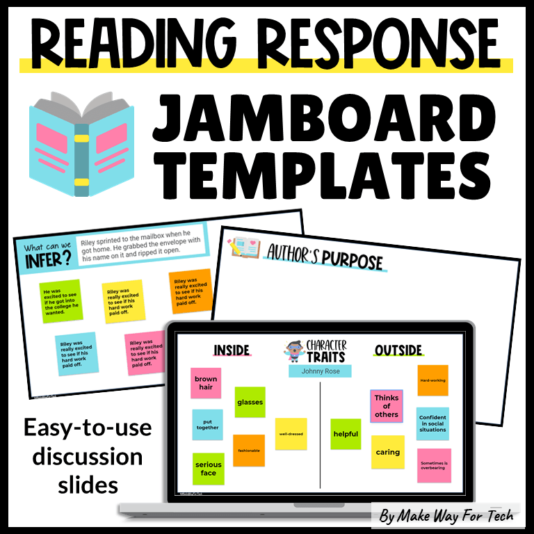 Google Jamboard Template Reading