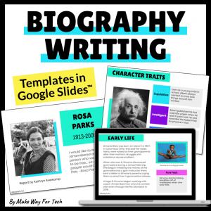 Biography Writing Template Google Slides