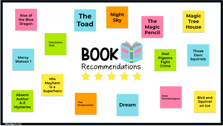 Jamboard Book Recommendations