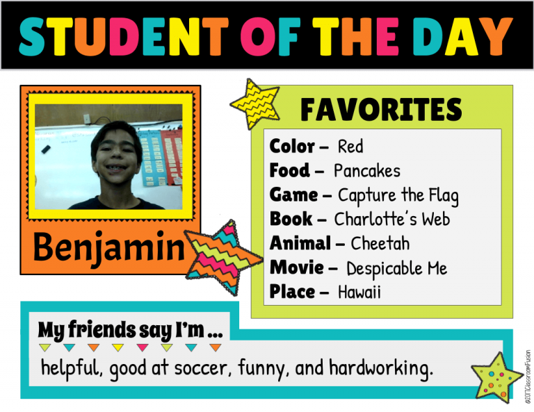 Student of the Day Student of the Week