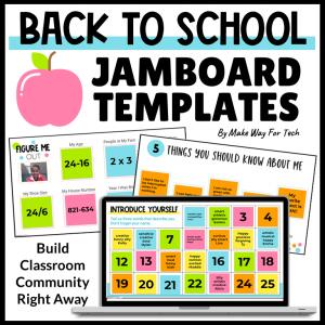 Back to School Jamboard Templates