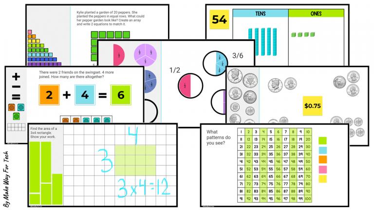 Jamboard Math Templates