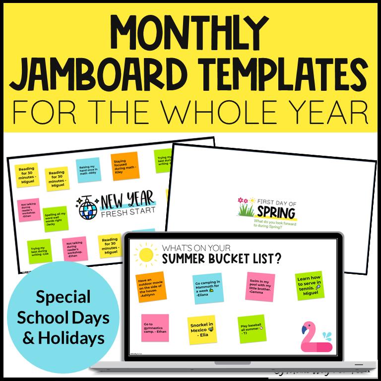 holiday jamboard templates
